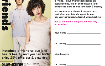 Introduce a friend to Sue-Jane for a special discount!